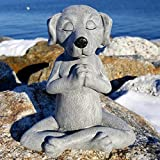 Meditationsstatue Katze Statue Hunde-Statue Zen Yoga Hase Deko Figur Harz Meditation Yoga Decor,Feng Shui Ornament Skulptur,Sammlung Handwerk,Rasen Garten Dekor (Hund- A)