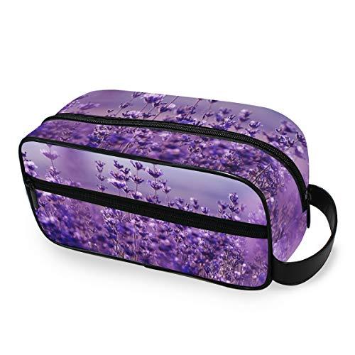 Trousse de toilette Trousse de maquillage Outils portables Cosmétique Train Case Storage Lavender Flower Travel Fashion