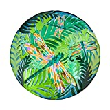 Evergreen Garden Beautiful Summer Iridescent Dragonfly Outdoor Glass Bird Bath - 18 x 18 x 3 Inches Fade and Weather Resistant Outdoor Decoration for Homes, Yards and Gardens