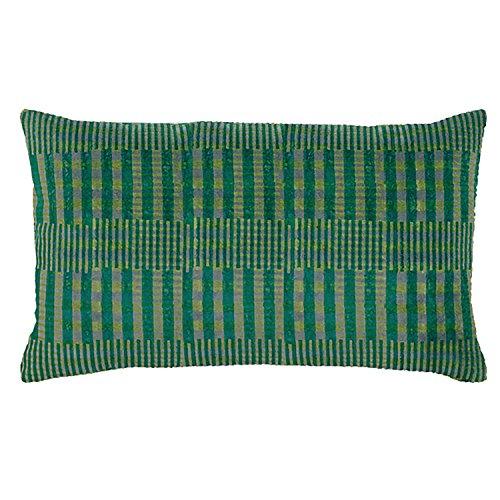 Vivaraise - Coussin - Coussin décoration - Coussin décoratif – Coussin rectangulaire - Coussin canapé - Coussin intérieur - Coussin Multifonctions - 30 x 50 - Emeraude Vert - Rosetta