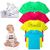 Palksky T Shirt Ruler Guide for Vinyl, 4Pcs Transparent PVC T Shirt Rulers for Making Fashion Center Designs, T-Shirt Alignment Ruler Tool Sublimation Heat Press Guide for Adult Youth Toddler Infant
