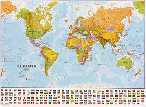 Wereld politiek plano geplastificeerd 1/30M/bestel per set 5425013069885