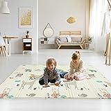 Colchoneta Infantil Plegable, Antideslizante Alfombrilla de juegos para bebé, Extragrande Alfombra...