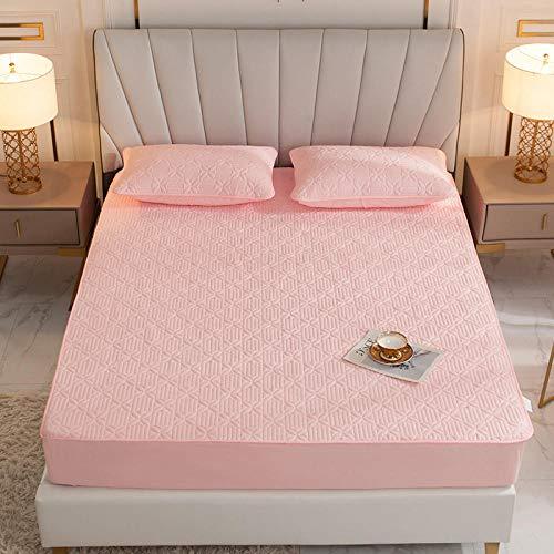 CYYyang Protector de colchón, algodón, poliéster, Una Sola Pieza de Funda Protectora de Color Puro para sábana-2_200 * 220cm