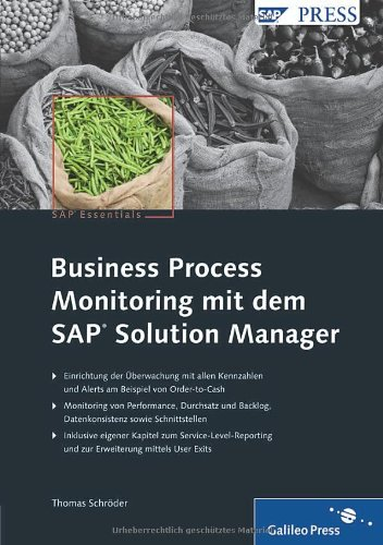 Business Process Monitoring mit dem SAP Solution Manager (SAP PRESS)