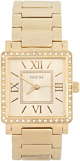 Guess Women'S Gold Dial Stainless Steel Band Watch - W0827L2, Gold,