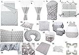 Vizaro - Pack Textil Ropa Hogar Bebé Completo 24 artículosCuna 60x120cm - 100% Algodón - Hecho UE, OekoTex - Lunares