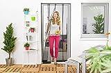 empasa Wirksamer Insektenschutz: Lamellenvorhang aus Filatec-Gewebe 100 x 220 cm, Fliegengitter mit...