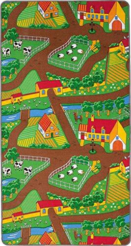 Duoplay Wende-Spielteppich, City oder Farm - 2