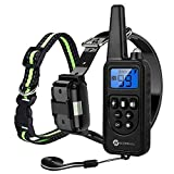 Slopehill Dog Training Collar, Waterproof Dog Shock Collar with Remote, Rechargeable Dog Collar with Vibration, Beep, Shock Light Modes, Adjustable 0 to 99 Shock Levels