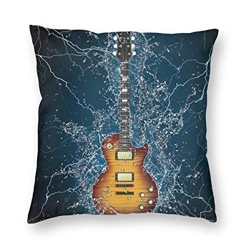 Hangdachang Electric Guitar Abstract Pillowcase Decorative Pillow Standard Cushion Cover Gift 45 X 45 cm/18 X 18 Inch