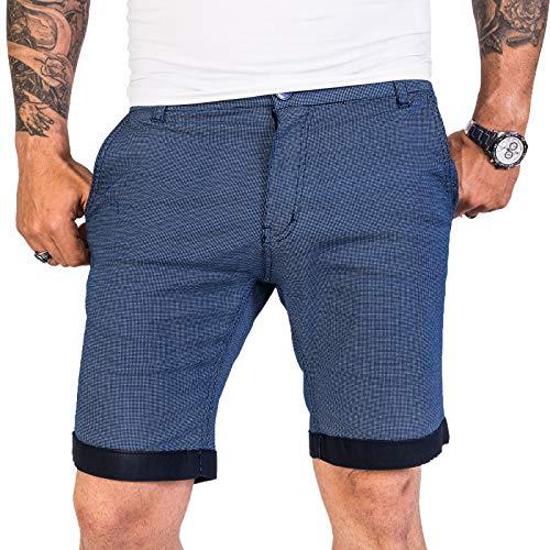 Rock Creek Designer Chino Shorts Herren Short Sommerhose Elegant Bermuda Kurz Herrenhose Anzugsshorts Herrenshorts Bermudas RC-2204 Blau W32