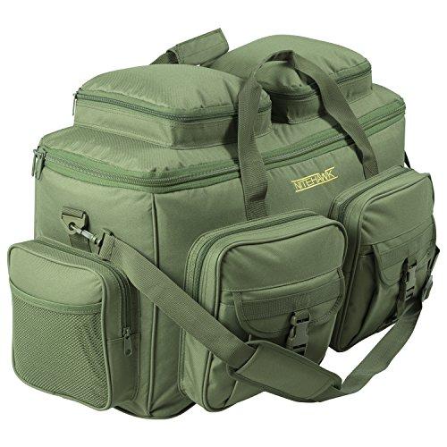 Nitehawk Deluxe XL 55L Fishing Tackle Bag, Multi Pocket Organiser Carryall, Hunting/Shooting Storage Holdall
