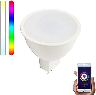 Bombilla Inteligente WiFi GU5.3/MR16 LED 12V RGBW compatible con Alexa, Google Home y Smart Life, Multicolor Regulable 5W – Smartfy