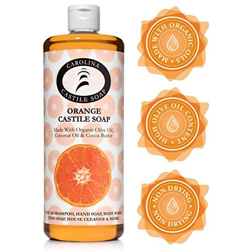 Carolina Castile Soap Orange w/Organic Olive Oil & Cocoa Butter - 32 oz