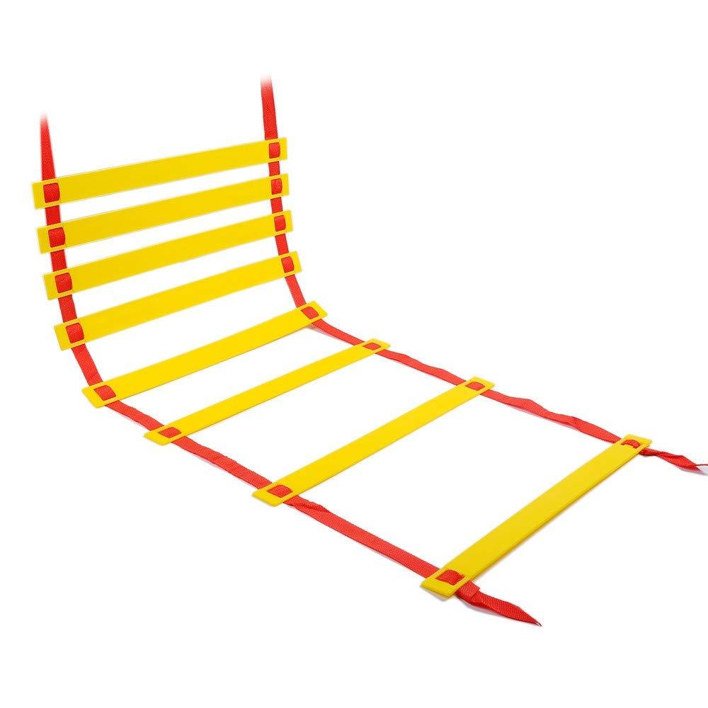 QHGao Escaleras De Entrenamiento Ágiles Y Rápidas, Escaleras De Mano para Fútbol De Alta Intensidad Y Otros Equipos De Entrenamiento De Velocidad Deportiva, Mejores Habilidades Motoras: Amazon.es: Hogar