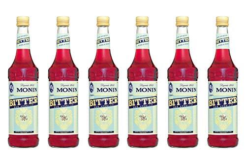 Monin Sirup Bitter Apéritif 0,7L 6er Pack