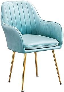 Sillas de la cocina del hogar de la sala de sillas Estilo respaldo tienda de té silla de comedor ocio café nórdica asiento bolsa blanda dormitorio sala de estar casera respaldo silla ( Color : F )
