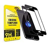 actecom® Pack DE 2 Protector Completo Negro 5D Pantalla Compatible con iPhone 7 Plus / 8 Plus Cristal Templado 5,5' 9H 2.5D (2 uds.)