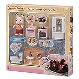 sylvanian families- arredamento completo con papà frasier accessori casa delle bambole, 5479