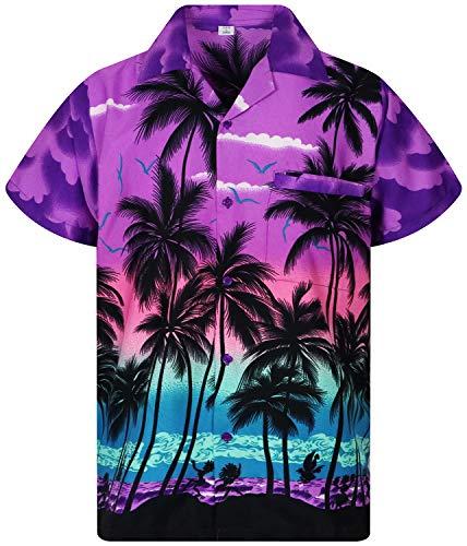 V.H.O. Funky Hawaiian Shirt | Men's | Short Sleeve | Front Pocket |...