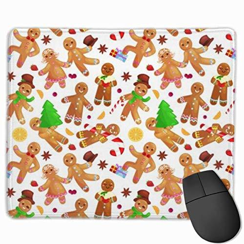 Gaming Mouse Pad, personalisierte benutzerdefinierte Maus Padnon-Slip Gummi Gaming Mouse Pad, bleiben Sie positiv, arbeiten Sie hart und lassen Sie es geschehen Set Weihnachtsplätzchen Lebkuchen Mann