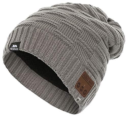 Trespass BLUEBEATS Bonnet avec Casque sans Fil et Bluetooth Gris Clair chiné