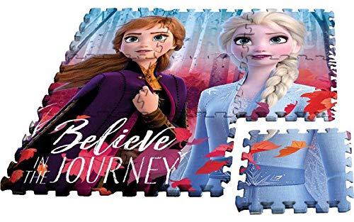 Frozen puzle eva 2 Alfombras Infantiles Pared Decoración del hogar Unisex Adulto, Multicolor (Multicolor), única