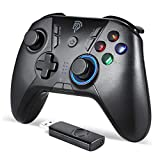 Wireless Game Joystick Controller, 2.4G Wireless Gamepad Joystick PC, Dual Vibration, 8 Hours of Playing for PC /PS3/for Nitendo Switch/Switch Lite/Android Phones, Tablets, TV Box Gamepad [windows]
