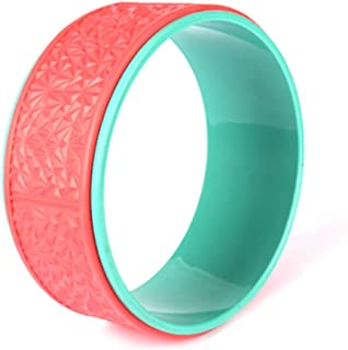 Fitness Circles Yoga Wheel Back Bend Artifact Open Shoulder Dharma Wheel Massage Roller Slimming Aid Home Pilates Ring Weight 150KG (Color : Pink, Size : 13 * 32.5cm)
