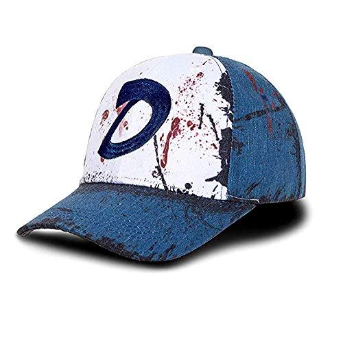 Ajpicture Clementines Mütze Blutflecken & Dirt Dead Zombies Baseball Cap Halloween Cosplay Zubehör Unisex Schieferblau
