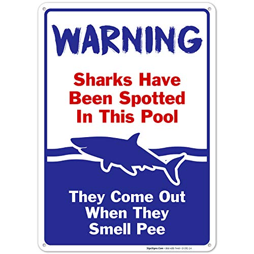 Sigo Signs Rust Free Aluminum Swimming Pool Sign - 10 in. x 14 in.