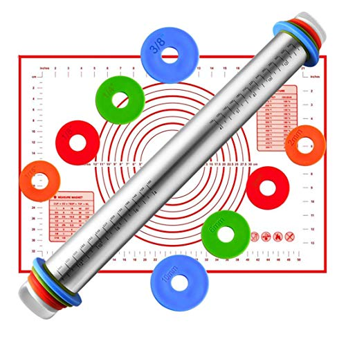 AMAYGA Rolling Pins 4 Discos Ajustables Anillo marcaje