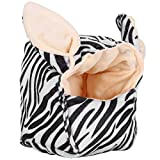 SALUTUYA Accesorios para hámster Jaula para Dormir Colgante de algodón para Mascotas para Bolsa de Miel Ardilla voladora para Oso de Seda Dorado