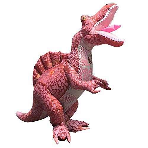 Disfraz de Halloween para adultos Dino Spinosaurus Disfraz inflable Disfraces de dinosaurio de lujo para mujer Hombre Carnaval Cosplay Vestido de fiesta