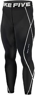 JustOneStyle New 011 Skin Tights Compression Leggings Base Layer Black Running Pants Mens