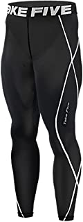 JustOneStyle New 011 Skin Tights Compression Leggings Base Layer Black Running Pants Mens