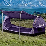 Mountview Double Swag Camping Swags Canvas Dome Tent Free Standing Purple Purple