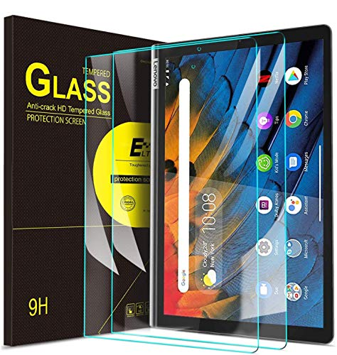 ELTD Screen Protector for Lenovo YOGA Smart Tab, Premium 9H Hardness 2.5D Round Edge Tempered Glass Film Screen Protector for Lenovo YOGA Smart Tab 10.1 Inches 2019 Tablet, (2 Packs)