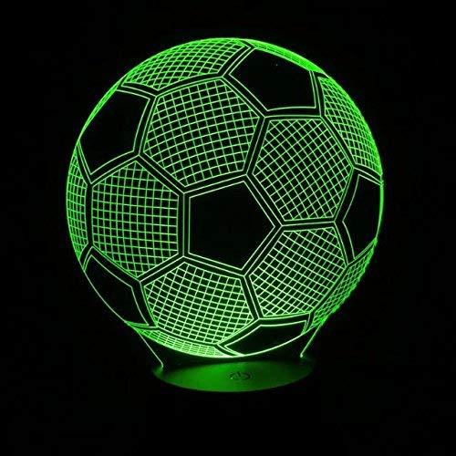 BFMBCHDJ Balón de fútbol en forma de luz LED de noche 3D para ...