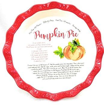 The Pioneer Woman Dazzling Dahlias Pumpkin Recipe 11.5 inch Pie Plate Dish Pan