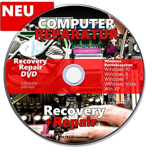 Recovery & Repair CD DVD für Windows 10 Win 7 Windows 8 PC REPARATUR Rescue-DVD Fährt jeden Rechner wieder hoch !