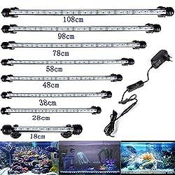 DOCEAN-Aquarium-Beleuchtung-LED-Lampe-weilicht-Blaulicht-Lighting-Leuchte-5050SMD-Wasserdicht-IP68-fr-Fisch-Tank-mit-EU-Stecker