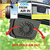 Solar Powered Car Window Auto Air Vent Cooling Fan System Cooler Windshield