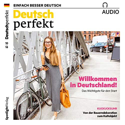 Deutsch perfekt Audio. 10/2018     Deutsch lernen Audio - Willkommen in Deutschland              By:                                                                                                                                 div.                               Narrated by:                                                                                                                                 div.                      Length: 59 mins     Not rated yet     Overall 0.0