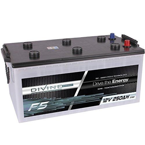 Divine 12V 250Ah Solarbatterie Mover Versorgungsbatterie Wohnmobil Boot Marine Camping Batterie Wartungsfrei