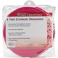 "Innovative Home Creations 5 Tier Storage Organizer -Fuchsia 12""X59"""