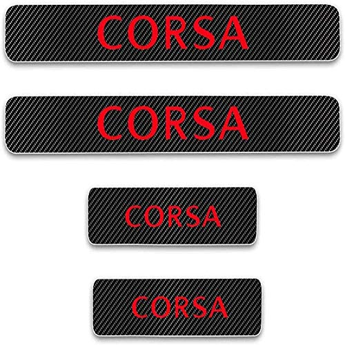 Para Opel Corsa, Antiarañazos Placa Bienvenida,Coches StickerFibr Carbono Protectores De Coche, Antideslizantes Antirrayas