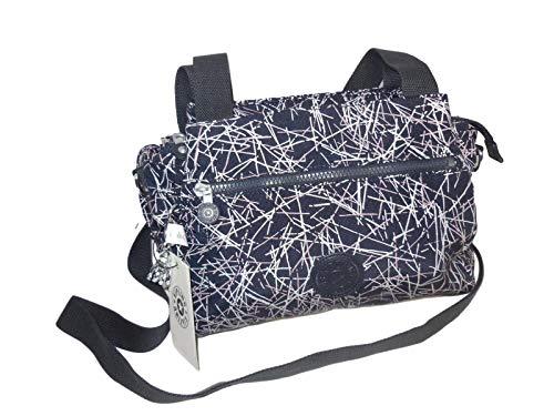 Kipling Women's Elysia Handbag, Navy stick Print, One Size