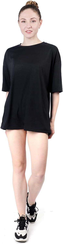 Women's Solid Oversized Drop Shoulder Half Sleeve T Shirt